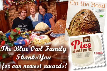 The Blue Owl Family Thanks You...