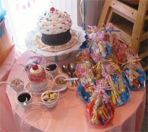 birthdaycake table