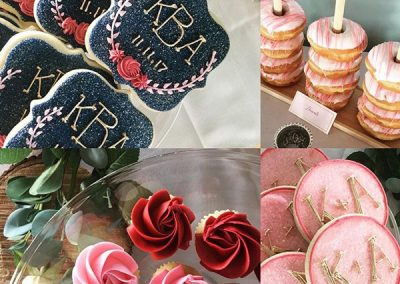 DecoratedButterCookies-WeddingPinkGoldChalkboardFloral